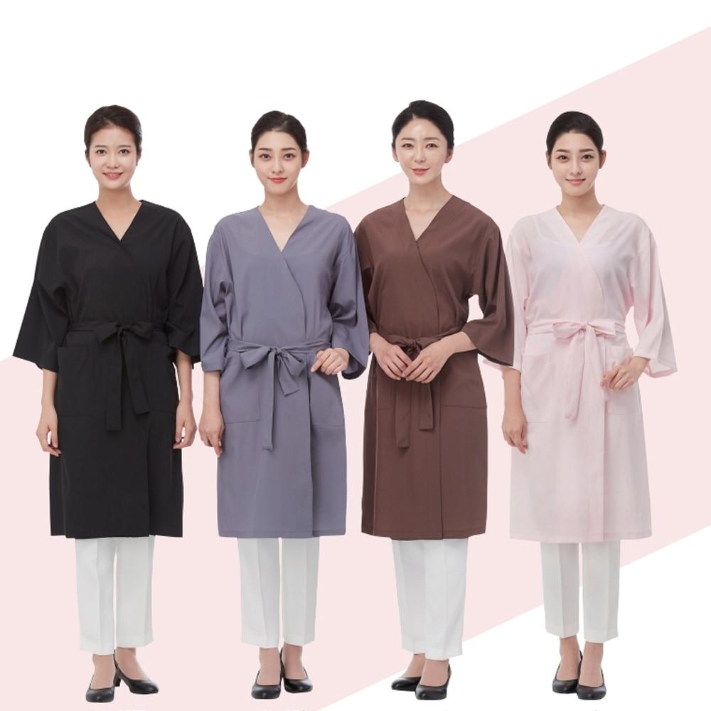 라인 포시즌 엠보 가운 손님 마사지 미용 미용실 피부
