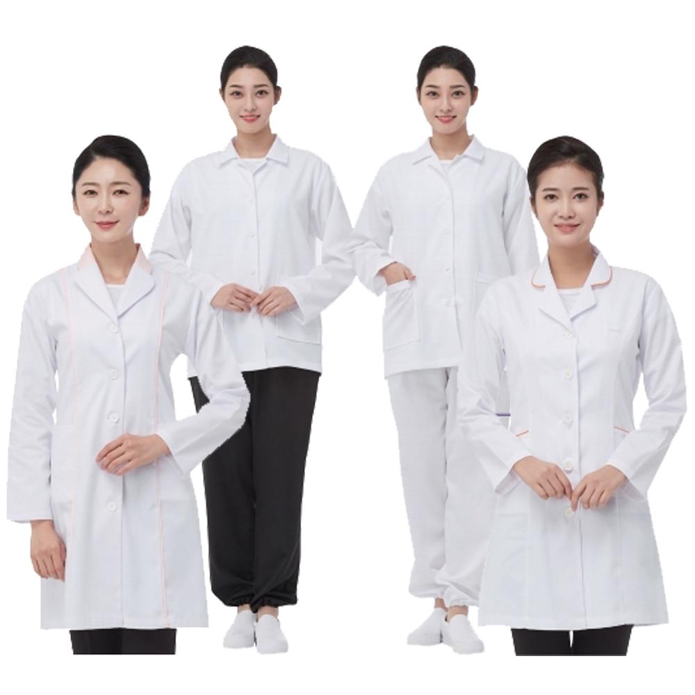 라인 TR 스판 영양사 파이핑 가운 식당 유니폼 긴팔