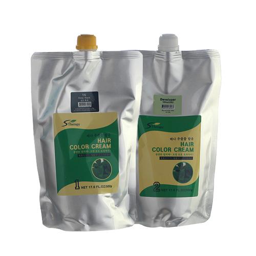 [새롬]엔자임 효소 클리닉 헤어칼라크림 1제, 2제 500g